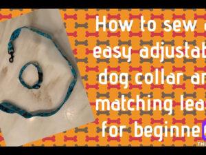 How to Sew – Dog Collar & Leash